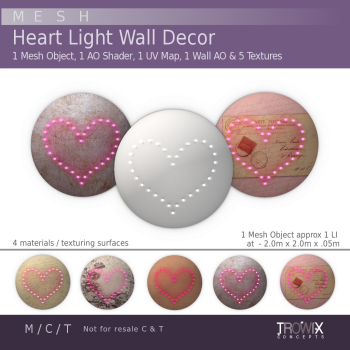 TW - Lighted Heart Wall Decor Vend